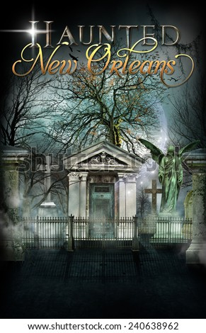 Haunted New Orleans Cemetery - stock photo