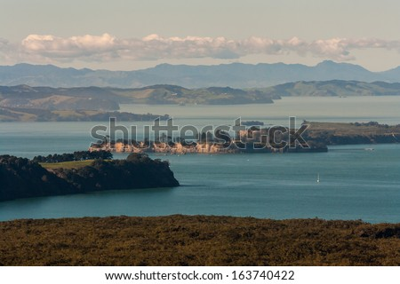 Hauraki Gulf islands - stock photo