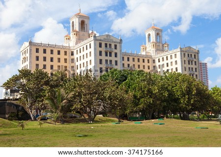 Havana, Cuba. Attraction and the famous Hotel Nacional - stock photo