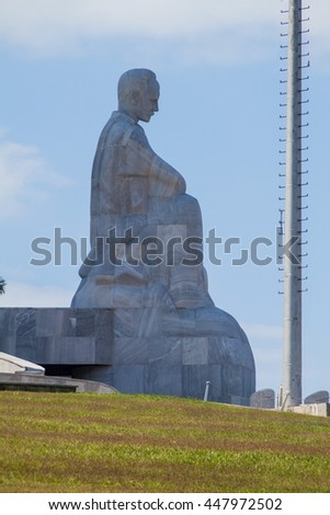 HAVANA, CUBA - FEB 21, 2016: Monument of Jose Marti in Havana, Cuba - stock photo