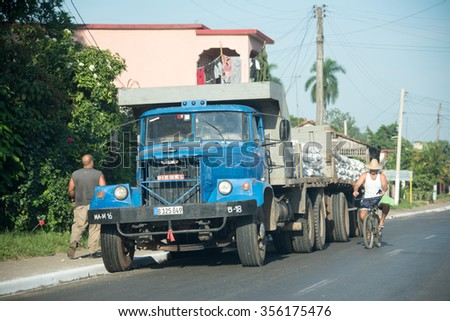 HAVANA,CUBA-JULY 8,2015: Transportation during the Raul Castro government: lack of importing vehicles has forced Cubans to keep old obsolete vehicles in working conditions with homemade custom changes