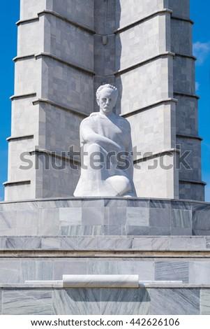 HAVANA,CUBA - JUNE 22,2016 : Jose Marti monument and tower at the Revolution Square in Havana - stock photo