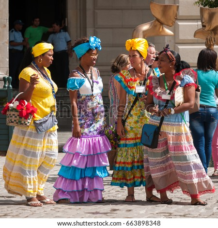 Cuban clothing for women