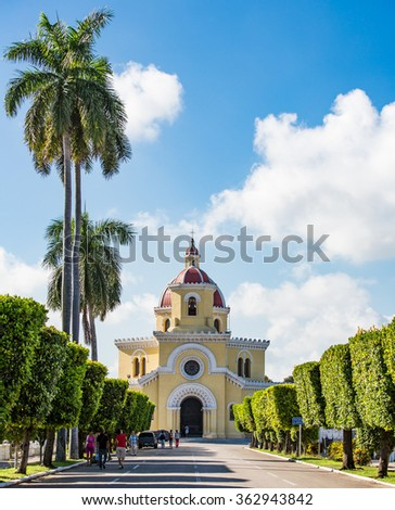 HAVANA, CUBA - OCTOBER 29, 2015- The Colon Cemetery in Vedado,Havana,Cuba.Colon Cemetery is one of the great historical cemeteries of the world - stock photo