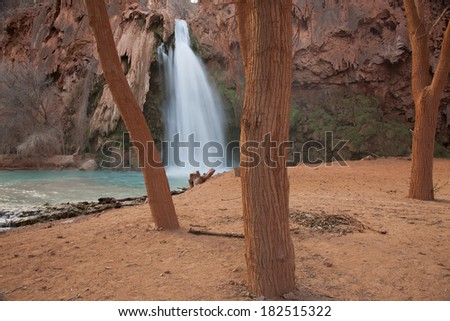 Havasu Falls at Havasu Canyon near Grand Canyon - stock photo