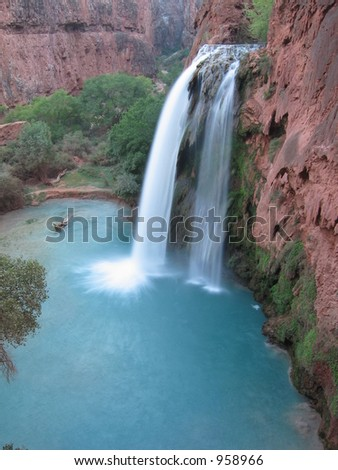 Havasu Falls, in Arizona. - stock photo