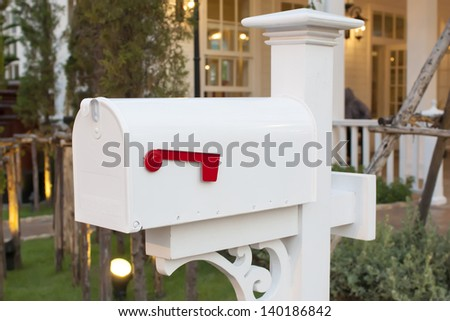 have a mail in your mailbox house - stock photo