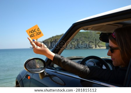 have a nice day - stock photo