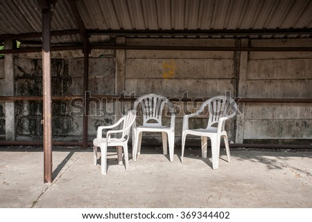have a seat - stock photo