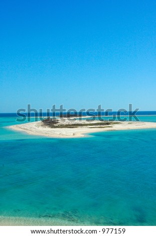 Haven: island and water of Dry Tortugas National park, florida - stock photo