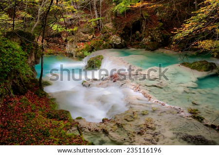 Haven of peace in the river - stock photo