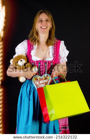 Having fun at kermis - stock photo