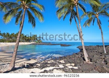 Hawaii Big Island beach - stock photo