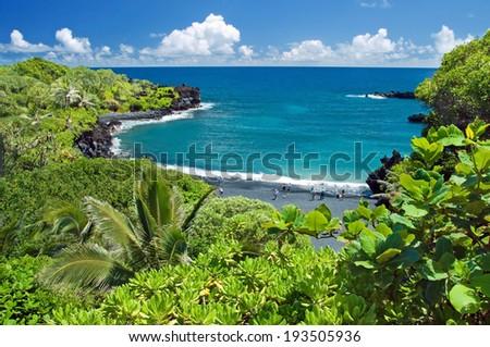 Hawaii paradise on Maui island - stock photo