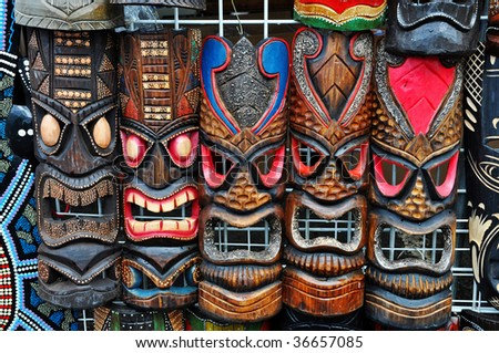 Hawaiian local crafts - stock photo
