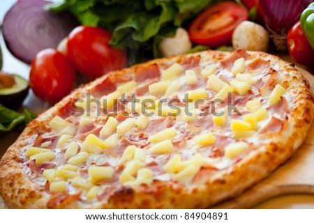 Hawaiian Pizza 6 - stock photo
