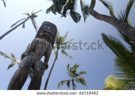 Hawaiian Tiki - stock photo