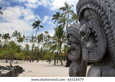 Hawaiian Tikis - stock photo