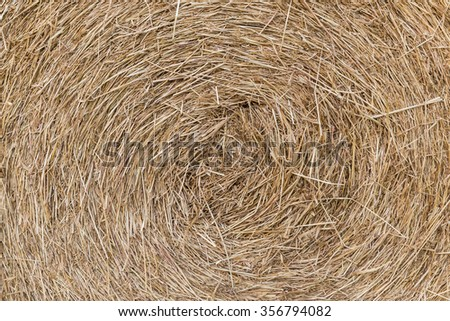Hay bales in background texture - stock photo