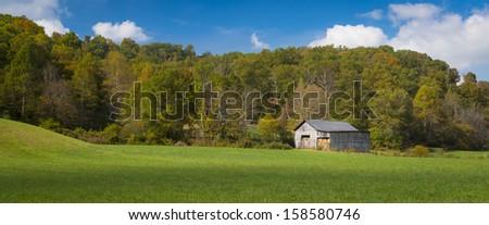 Hay Barn - stock photo