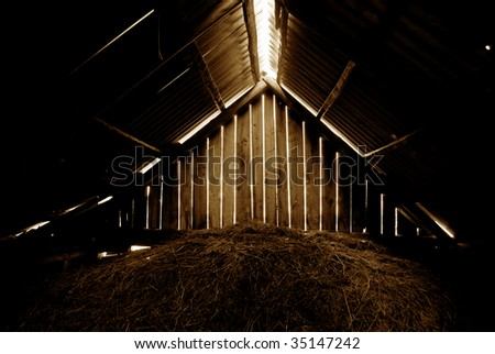 hay house - stock photo