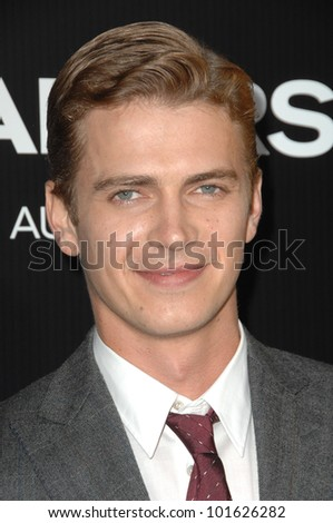 """Hayden Christensen at the """"Takers"""" World Premiere, Arclight Cinerama Dome, Hollywood, CA. 08-04-10 - stock photo"""