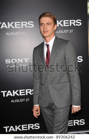 """Hayden Christensen at the world premiere of his new movie """"Takers"""" at the Cinerama Dome, Hollywood. August 4, 2010  Los Angeles, CA Picture: Paul Smith / Featureflash - stock photo"""