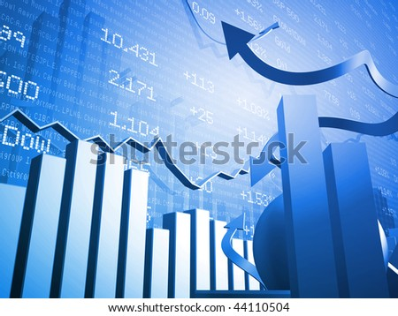 Haywire Stock Market Up and Down Arrows