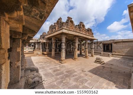 Hazara Rama Temple, Hampi,  Karnataka, India - stock photo