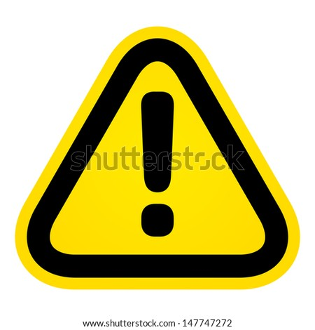 Hazard warning attention sign  - stock photo