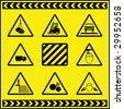Hazard Warning Signs 1 - stock photo