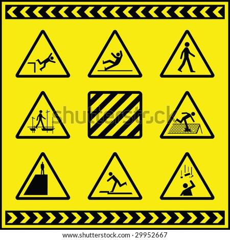 Hazard Warning Signs 4 - stock photo
