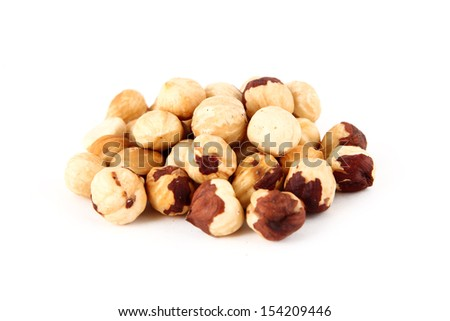Hazel nut isolated on white background  - stock photo