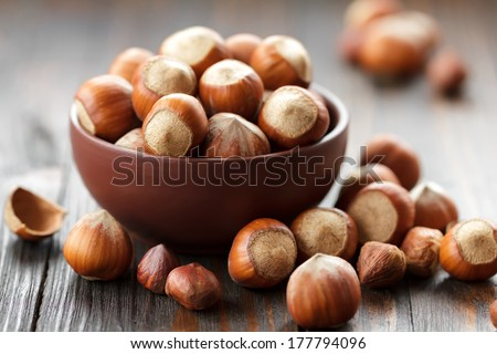 Hazelnuts - stock photo