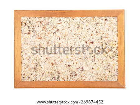 Hazelnuts powdered - stock photo