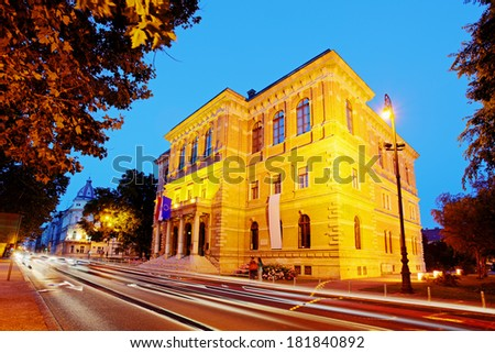 HAZU - Croatian Academy of Sciences and Arts - stock photo