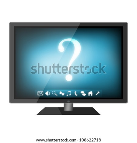 HD TV isolated on white background