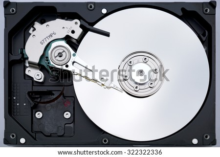 HDD close-up - stock photo