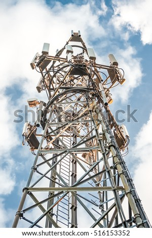 HDR communications tower abstract