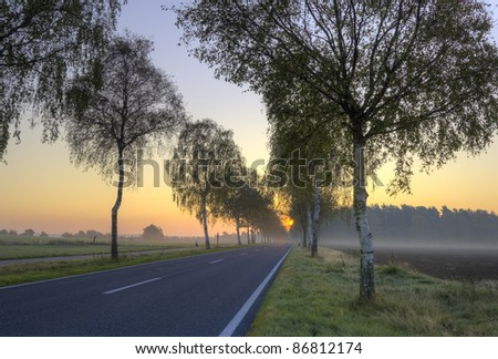 HDR daybreak, country road