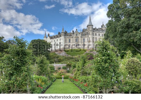 HDR enhanced view of Dunrobin Castle, Scotland