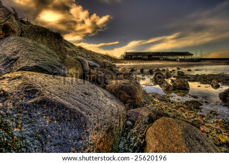 HDR image made by 3 exp. - stock photo