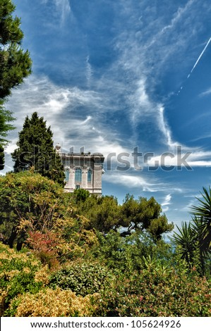 hdr image of the museum in monaco - stock photo