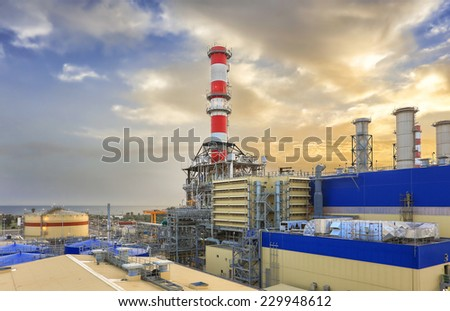 HDR of a Power Plant - stock photo