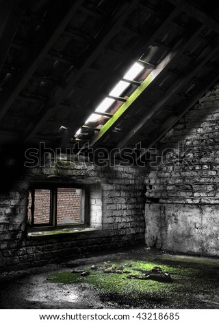 HDR picture of an abandon place - stock photo