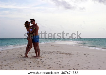 he and she on the beach