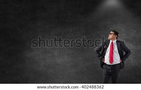 He believes in success - stock photo