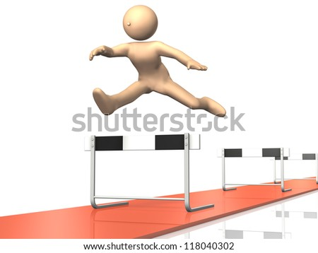 He continues to run. - stock photo
