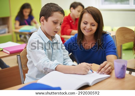 He is a very good student - stock photo
