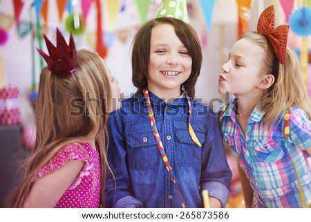 He is special guest on this party  - stock photo